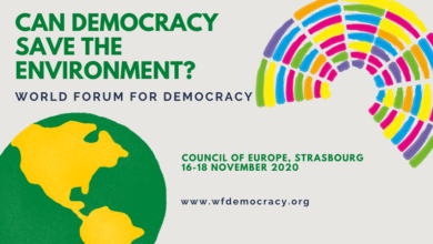 Photo of World Forum for Democracy Youth Delegation